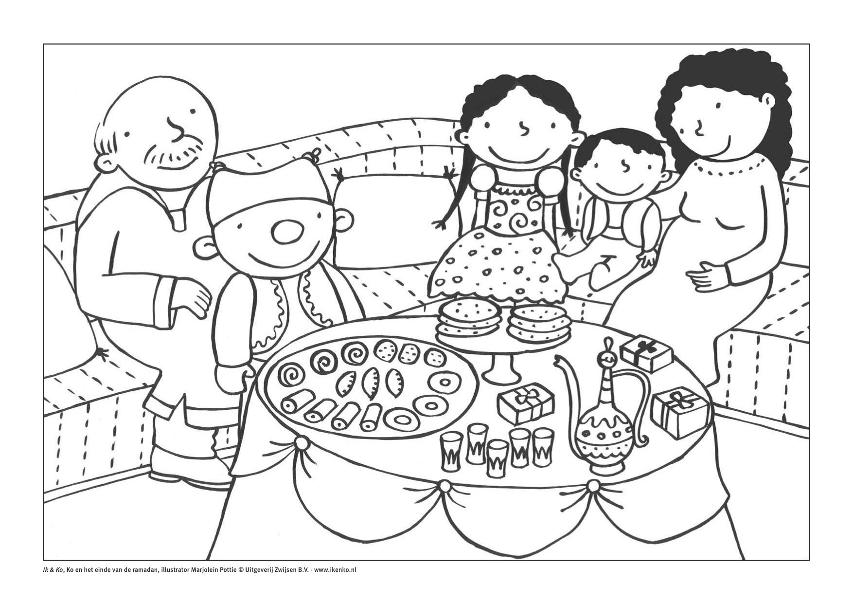 ik kleurplaat suikerfeest 0909 juf maike website en