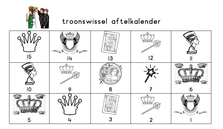 Aftelkalender troonswissel