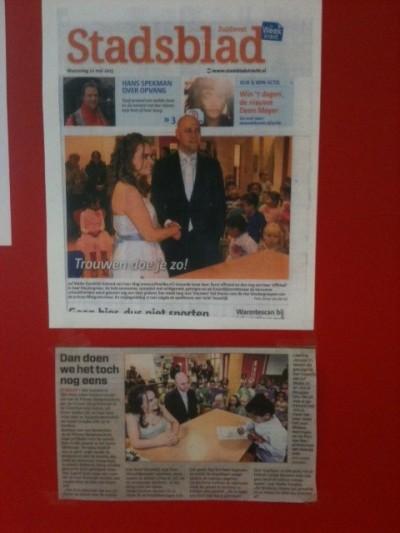 krant op deur