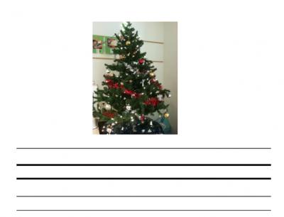 Kerstboom woorden opschrijven