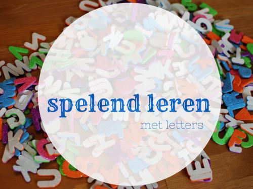spelend leren met letters