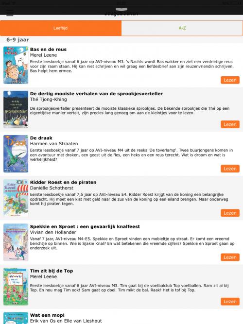 Lijst boeken vakantiebieb