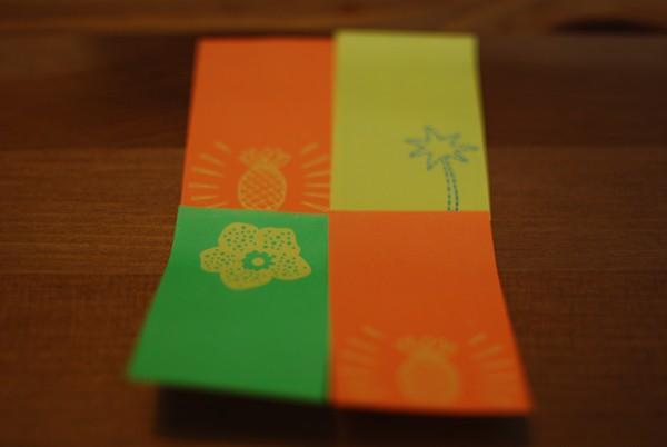 Rechthoek van sticky notes