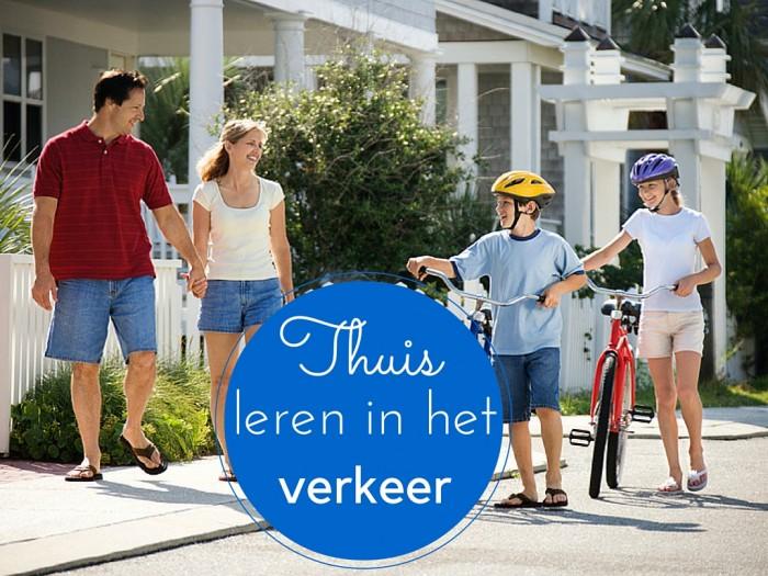 Thuis leren in het verkeer