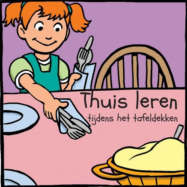 Thuis leren tijdens het tafeldekken