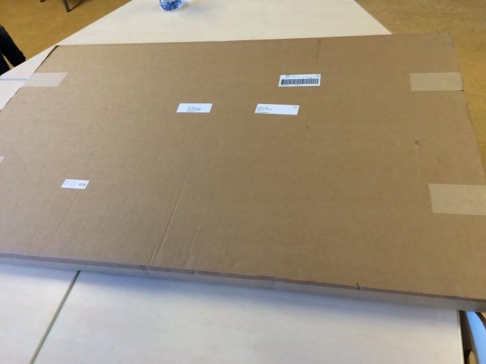 Groot pak met adres (stoomboot)