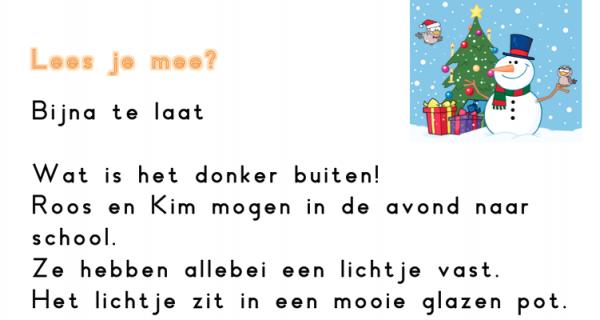 Begrijpend lezen kerst juf maike website en leerkracht for Begrijpend lezen groep 4