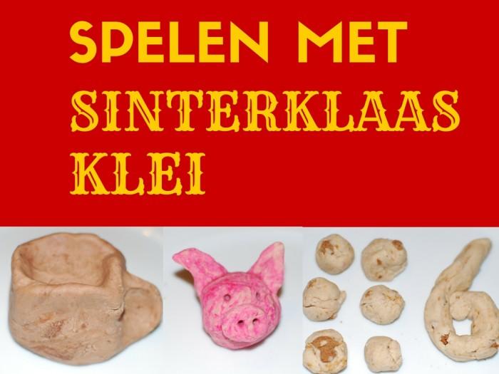 Spelen met Sinterklaas klei