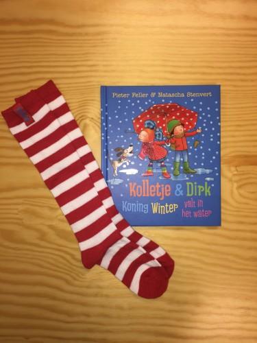 Kolletje winter boek met sokken
