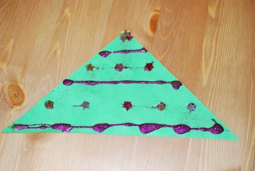 Kerstboom van glitters en sterren