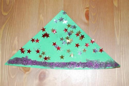 Boom met sterren en glitters