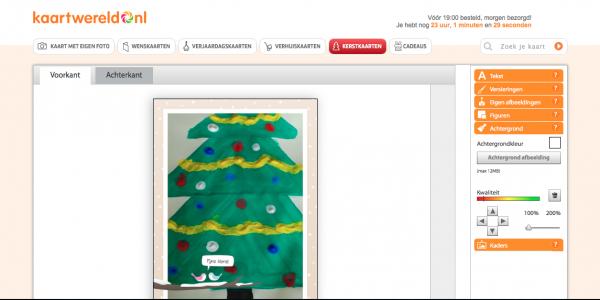 Kaart kerstboom Kaartwereld