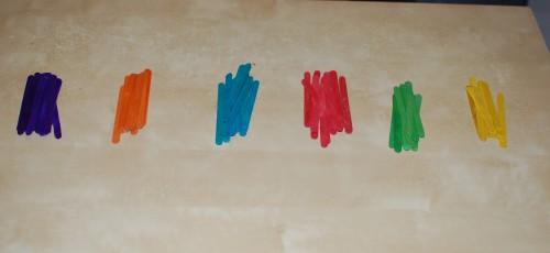 IJslollystokjes op kleur