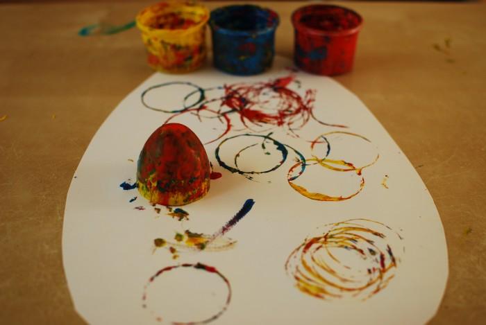 Eieren stempelen