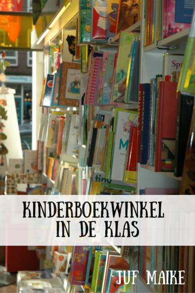 Maak een kinderboekwinkel in de klas en hang hier allerlei lestips aan op.