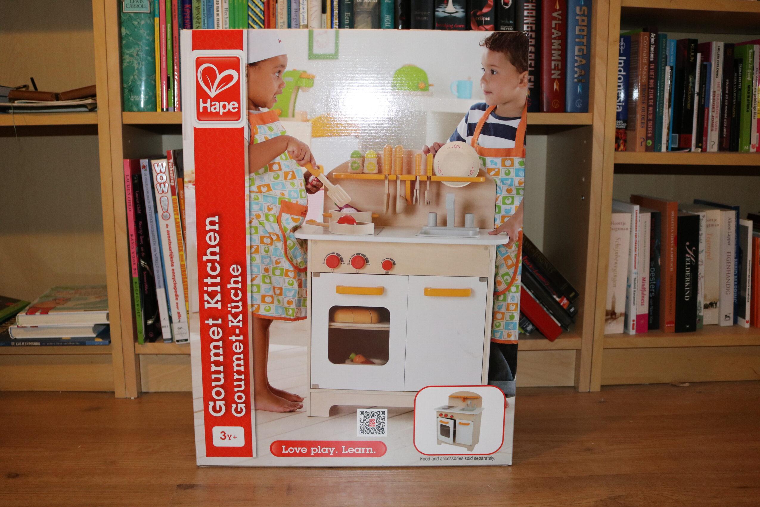 Hape houten keuken verpakking