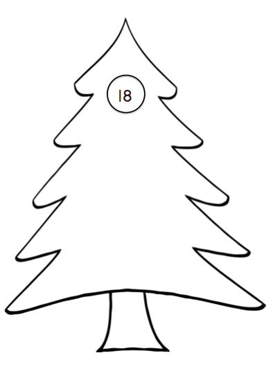 cijferkaarten kerst