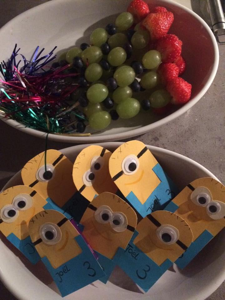 Fruitspiesjes en Minion