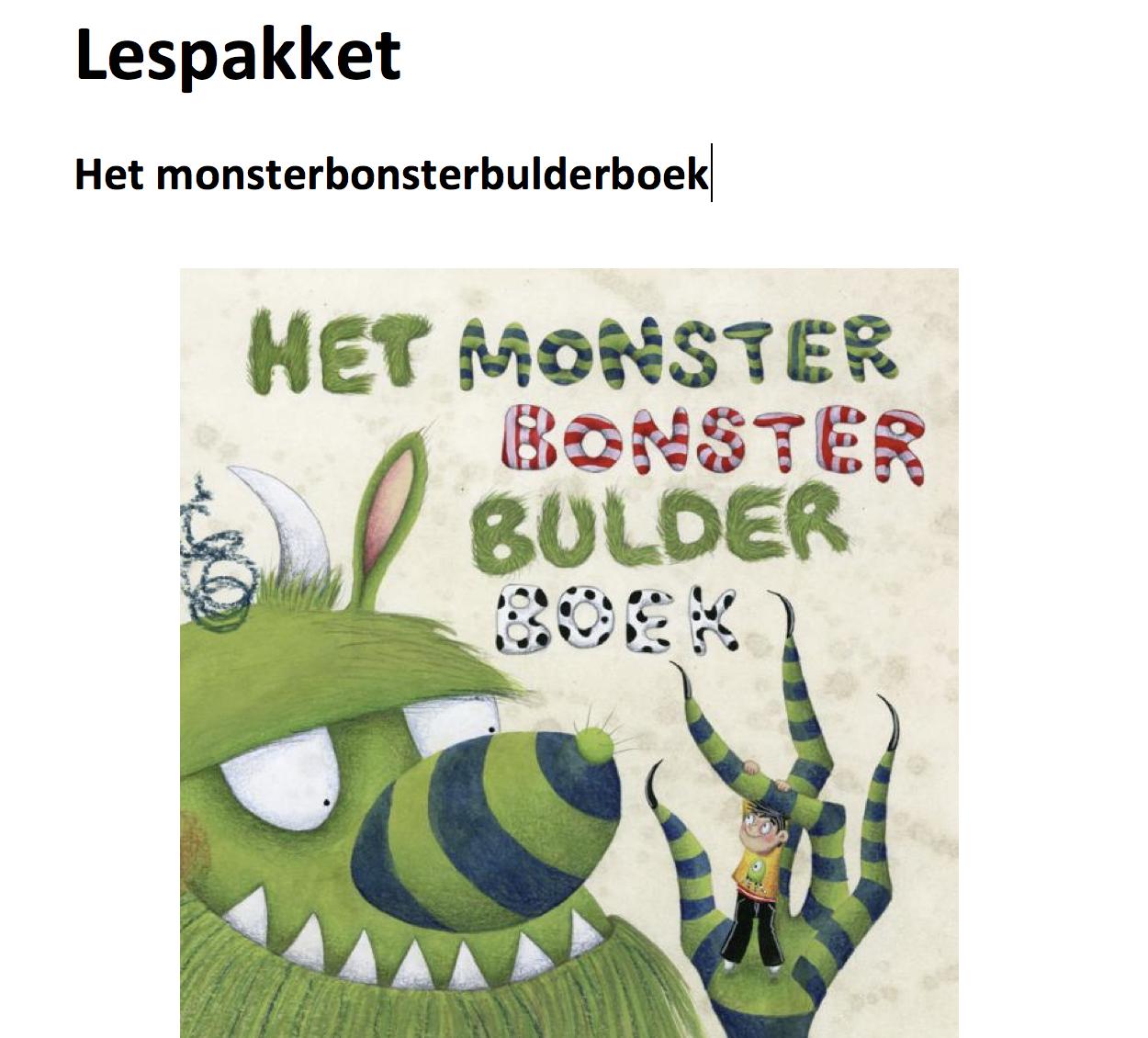 Lespakket Het monsterbonsterbulderboek