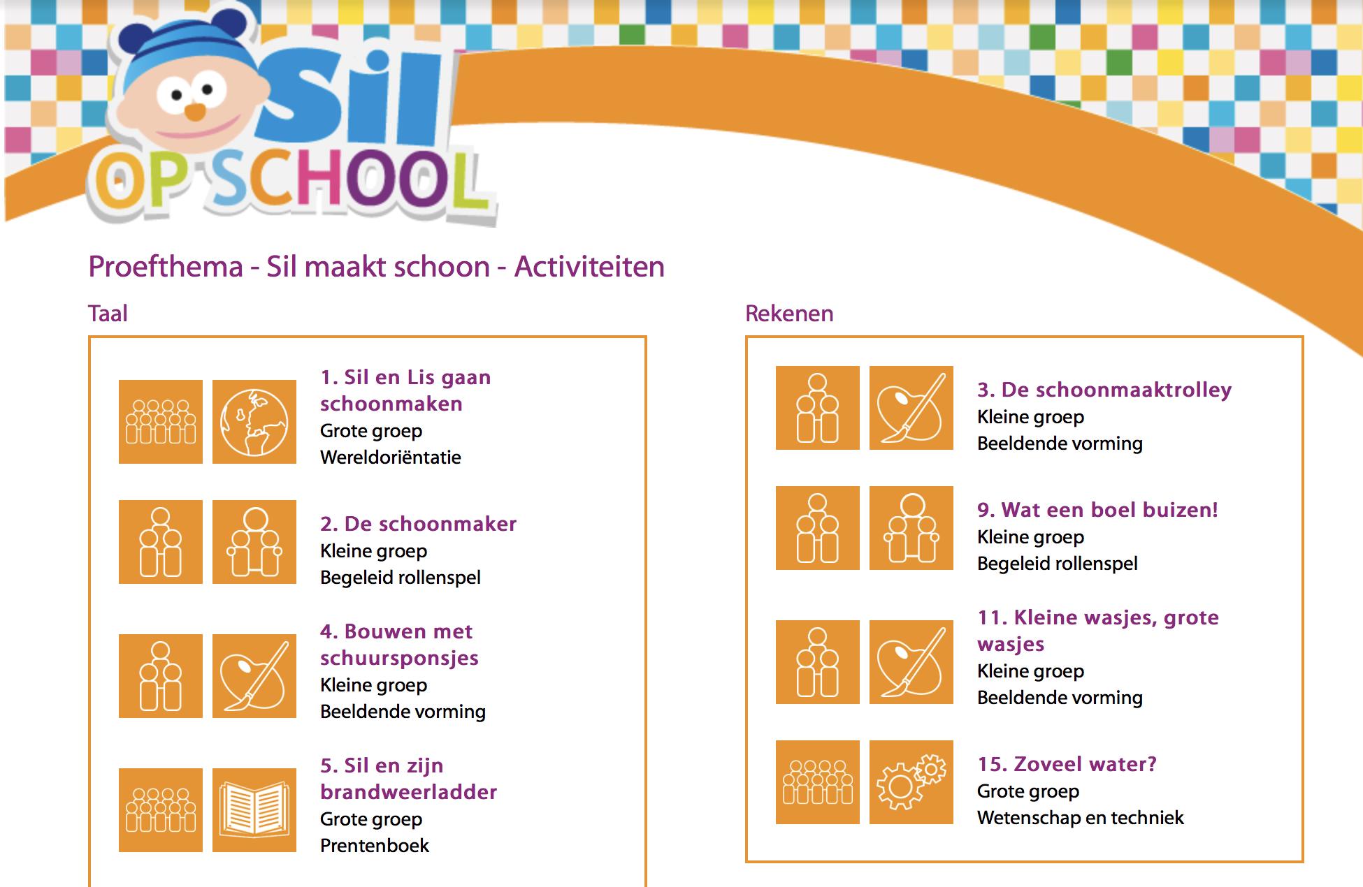 Activiteiten Sil op school