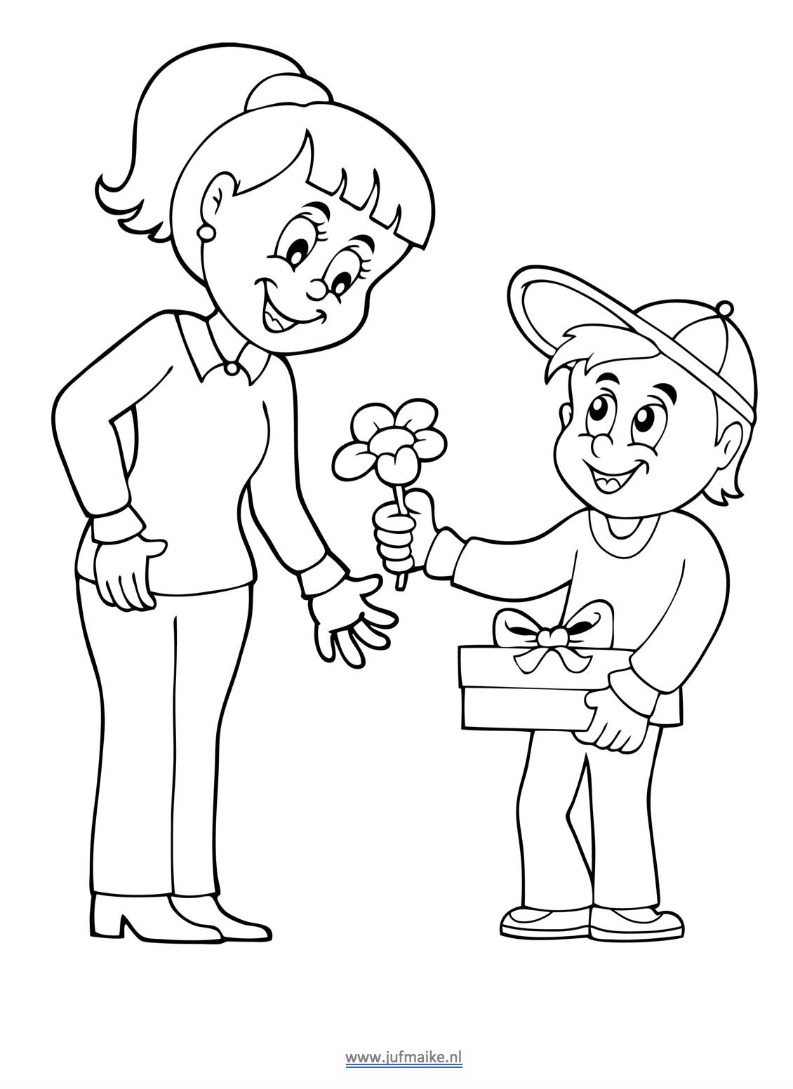 downloads moederdag juf maike leerkracht website en