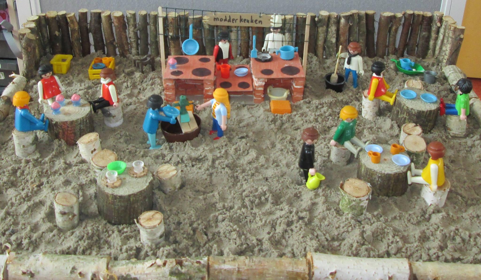Maquette modderkeuken