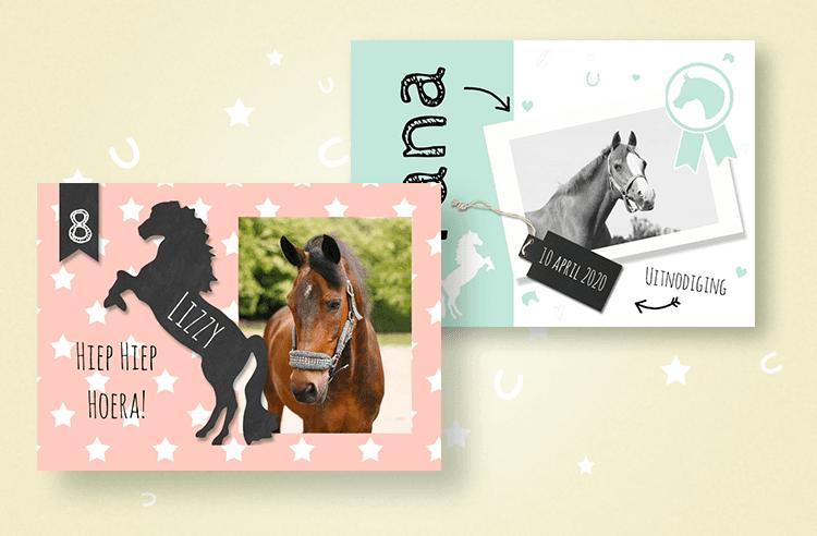 6. Uitnodiging voor een paarden kinderfeestje